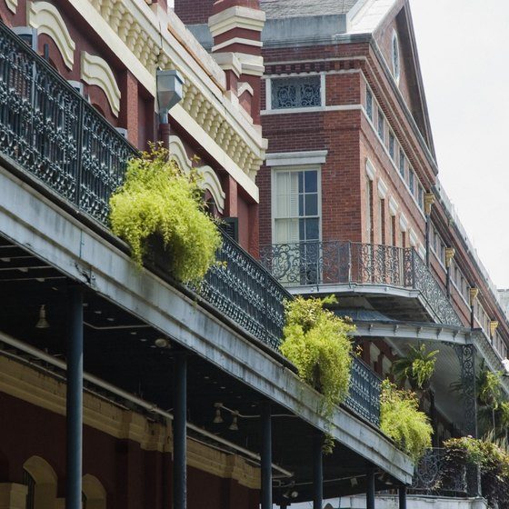 Travelers spend the night in New Orleans.