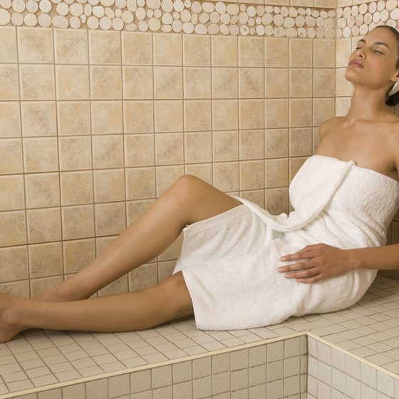 A sauna provides dry heat for relaxation.