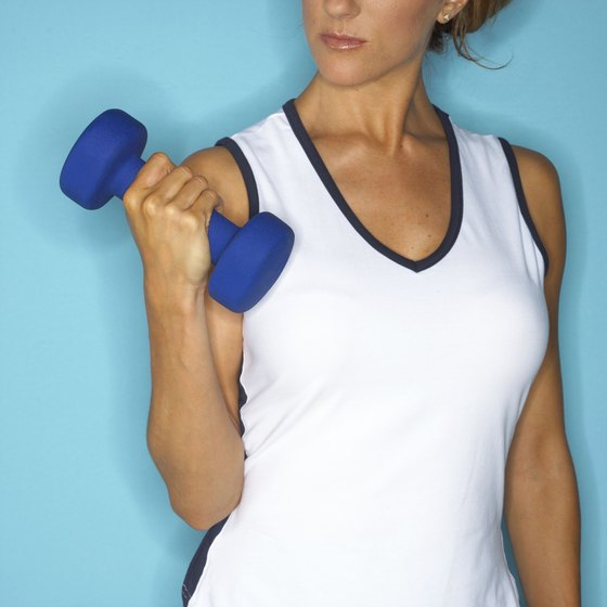 Foam dumbbells are more comfortable to use for cardio.