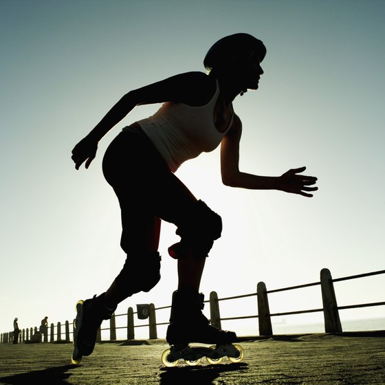 Wear protective gear during your in-line skating workouts.