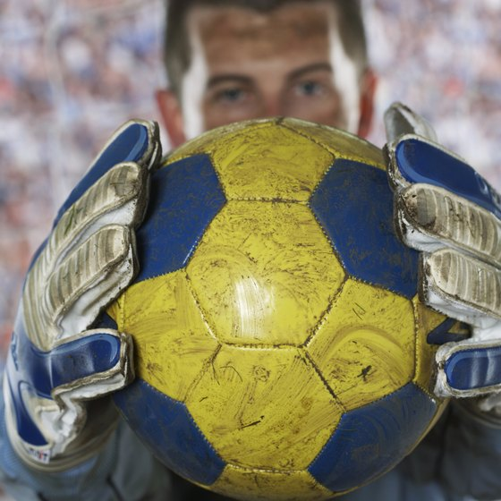 Gloves give the goalie a better grip on the ball.