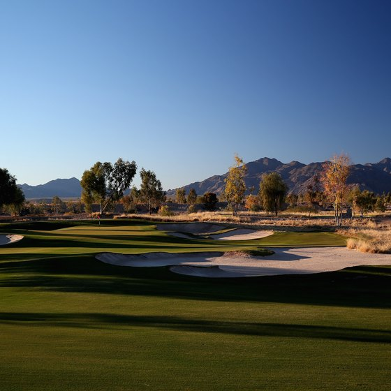 A view of the 10th hole at Maricopa's Ak-Chin Southern Dunes Golf Course.