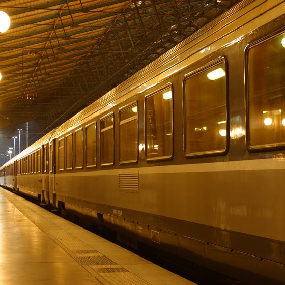 International train service is widely available in mainland Europe.