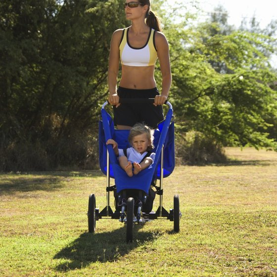 Walk or jog with your baby to burn postpartum calories.