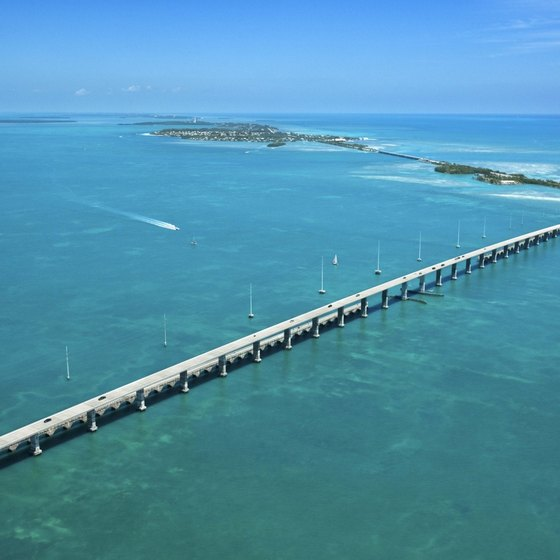 The Overseas Highway connects the islands of the Florida Keys.