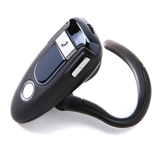 A Bluetooth headset lets you listen to audio material anywhere.