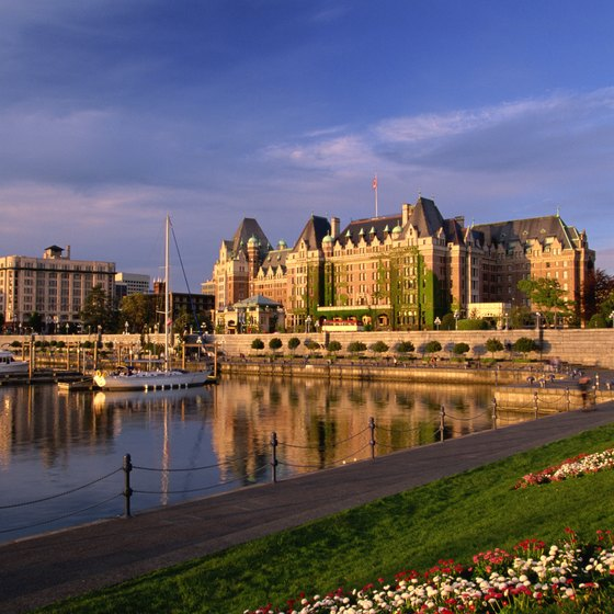 The Empress Hotel is one of the first things you see when arriving by sea or air in Victoria, British Columbia.