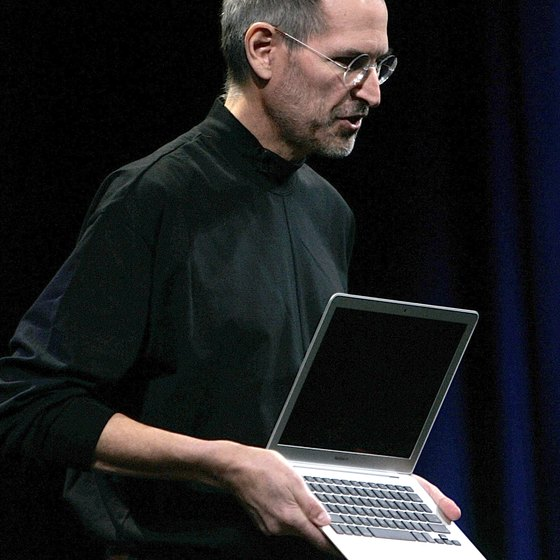 Steve Jobs introduced the first MacBook Air in January 2008.
