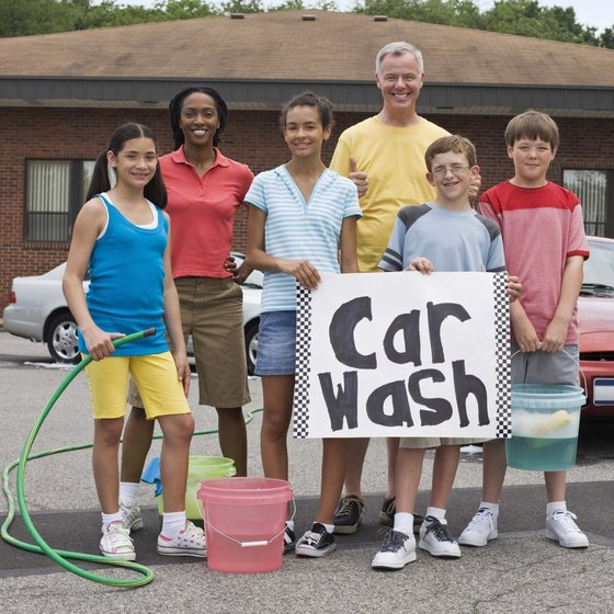 Fundraising events, including car washes, are a way to locate potential sponsors.