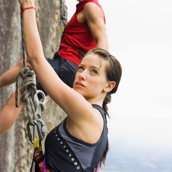 Rock climbing is one way to add toning to your workouts.