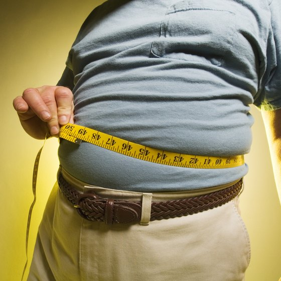 Gradual weight gain often occurs in men over 40.