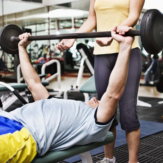 The bench press is a popular dynamic exercise.