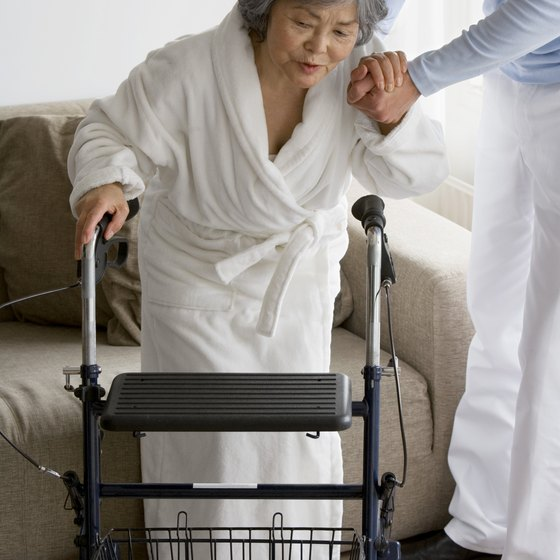 Moving from sitting to standing is a challenge for many elderly people.