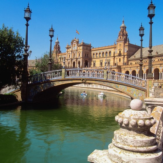 The Plaza de Espana is Seville's lively main public square.