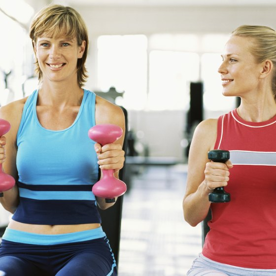An exercise buddy can make you feel more comfortable in the gym.