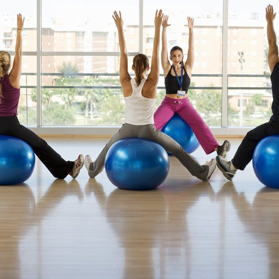 The right size exercise ball keeps you safe and injury free.