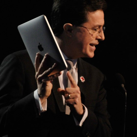 Highly portable, an iPad frees you from standing at a podium.