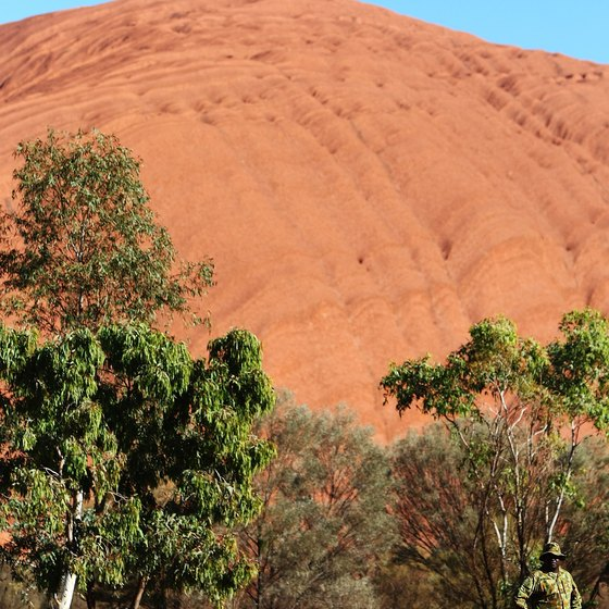 Ayers Rock is 1,142 feet high.