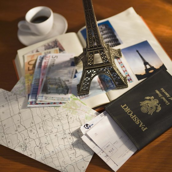 Use your passport to see famous tourist attractions, such as the Eiffel Tower.