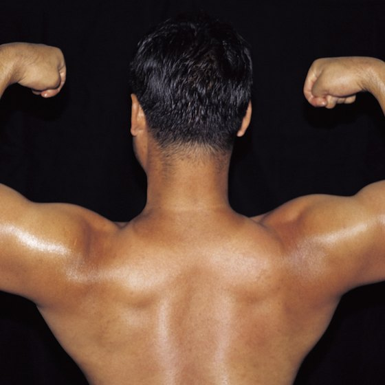 Work shoulders, bi's and tri's together to change up your workout.