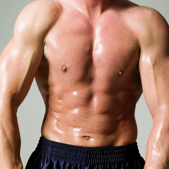 Testosterone is a hormone that influences muscle growth.