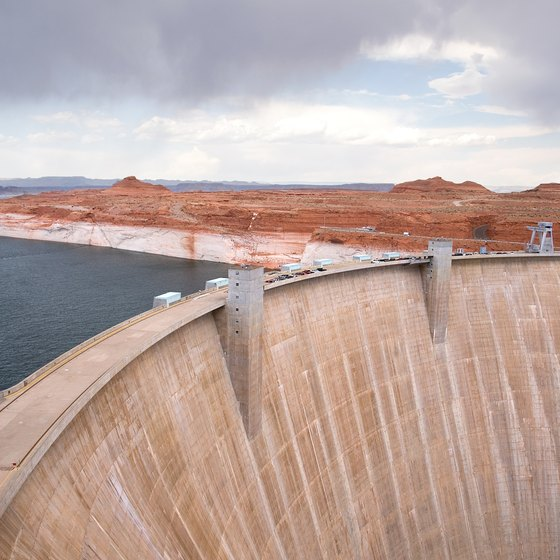 The Hoover Dam is 30 minutes southeast of Las Vegas.