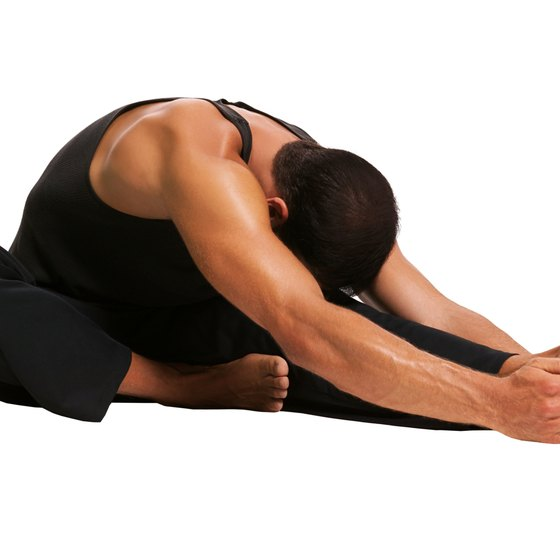 The seated hamstring stretch can be completed double or single leg.