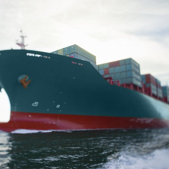 "A container ship, sometimes called a ""box ship,"" is a preferred means of moving dry freight."