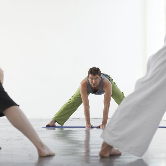 Mat, mat with towel, no mat? Several options are available to yogis.