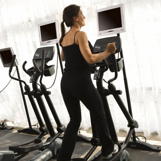 The elliptical machine provides safe, low-impact aerobic exercise.
