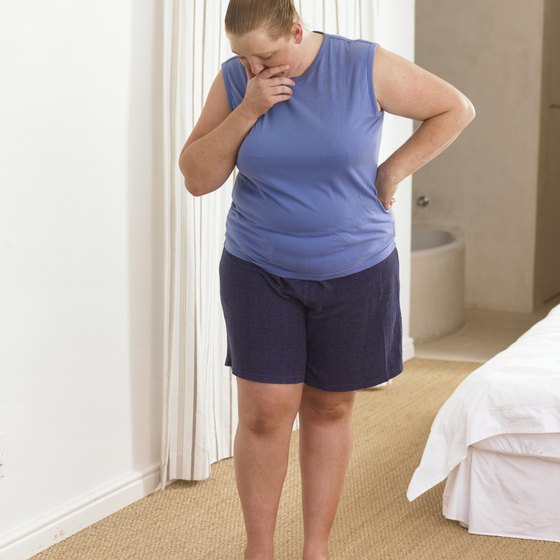 Losing weight can help reduce the size of your middle.
