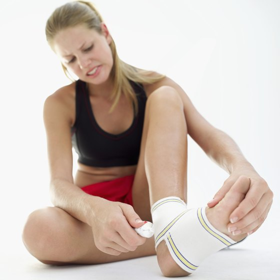Ankle injuries do not prevent exercising calf muscles.