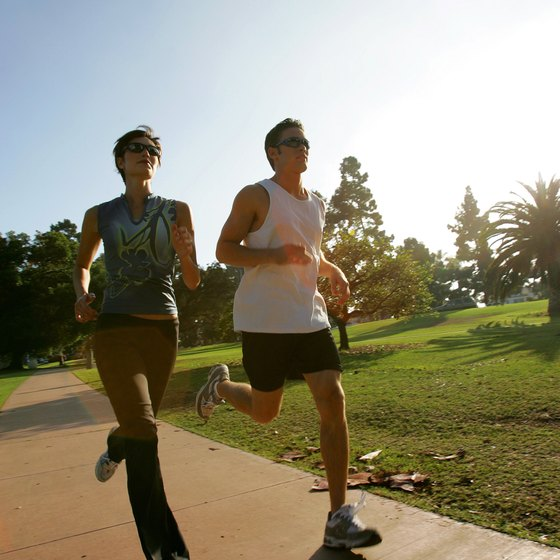 Jogging and walking both help you burn calories.