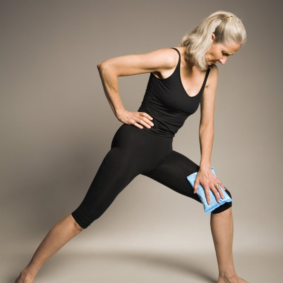 Stretching can help get your knees warmed up.