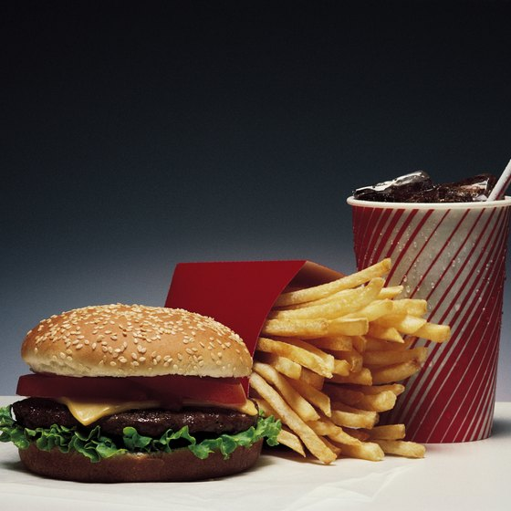 Many fast food menu items are low in fiber and other nutrients.