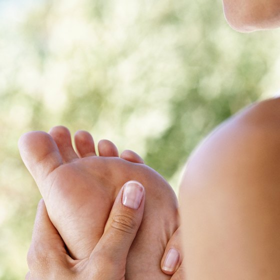 Massage your foot before doing foot exercises to loosen up the sole.