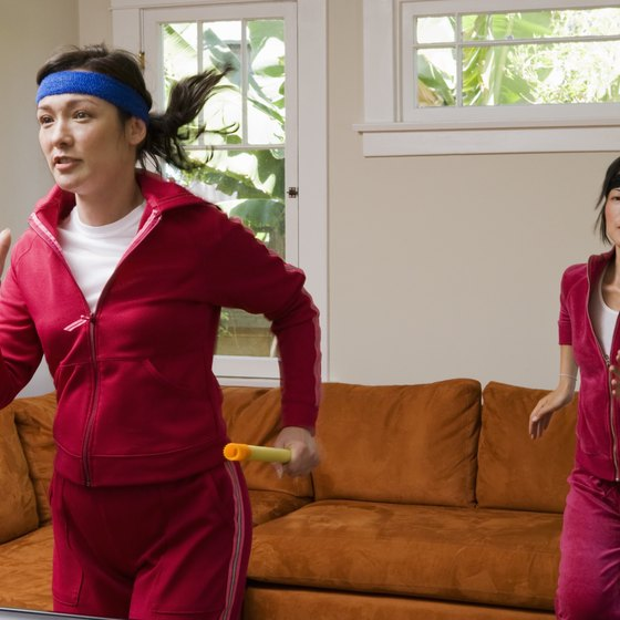 Bring your workout inside on rainy or cold days and jog in place at home.