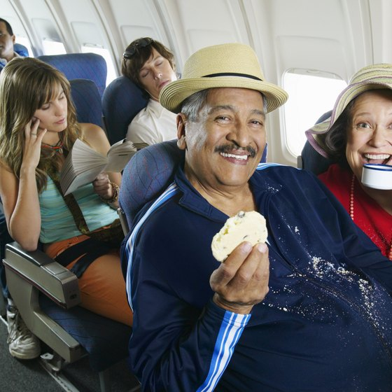 Pack an extra shirt in case of spills or cold temperatures on board.