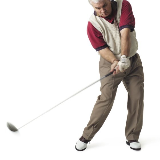 Muscles in the back initiate the downswing.
