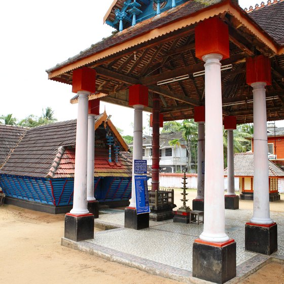 Kerala's abundance of temples is typical of the South.
