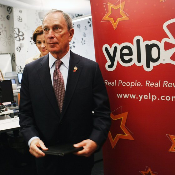 Yelp's distinctive logo is instantly recognizable on embedded badges.