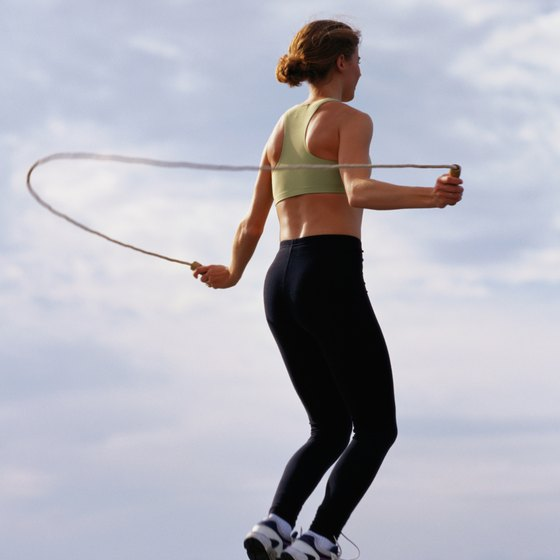 Jumping rope is a good form of physical activity.