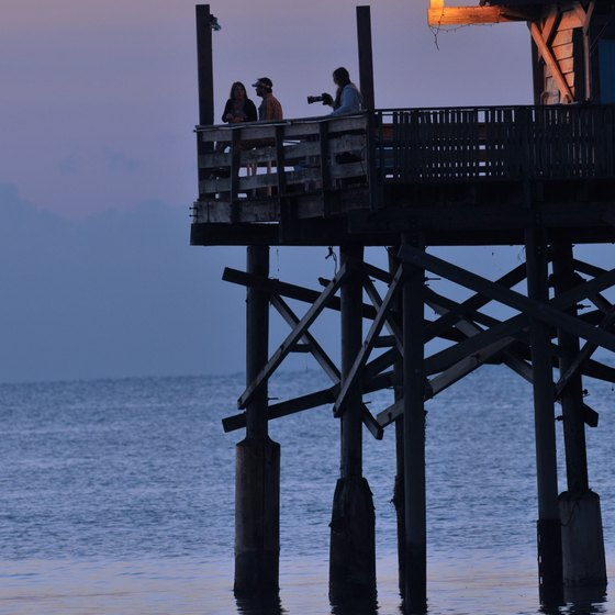 The Cocoa Beach Pier is a local landmark.