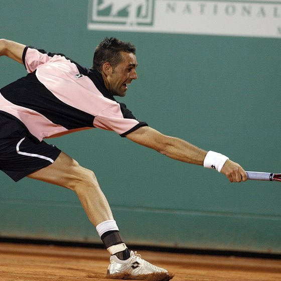 A clay court can often lead to longer, more physically demanding points.