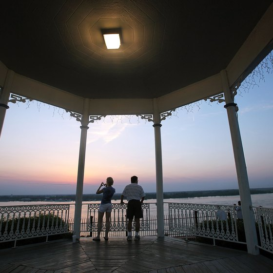 Natchez is a romantic place to view sunsets along the Mississippi River.