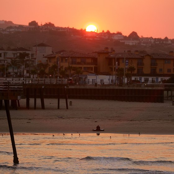 Pismo Beach, California is a local favorite for surfing and swimming.
