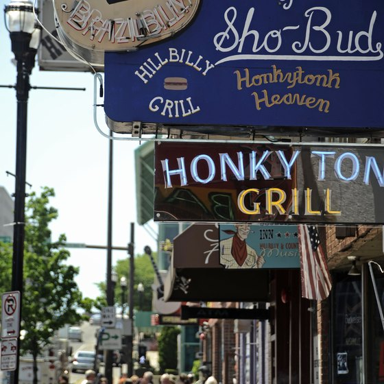 Enjoy the country music scene when you come to Nashville.