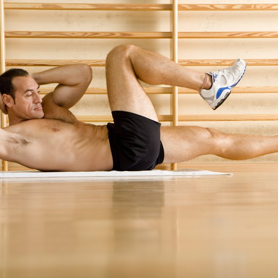 Bicycle crunches can help you build six-pack abs.