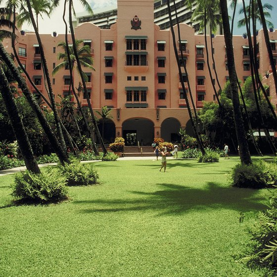 The Royal Hawaiian Hotel is one beachfront option in Waikiki.