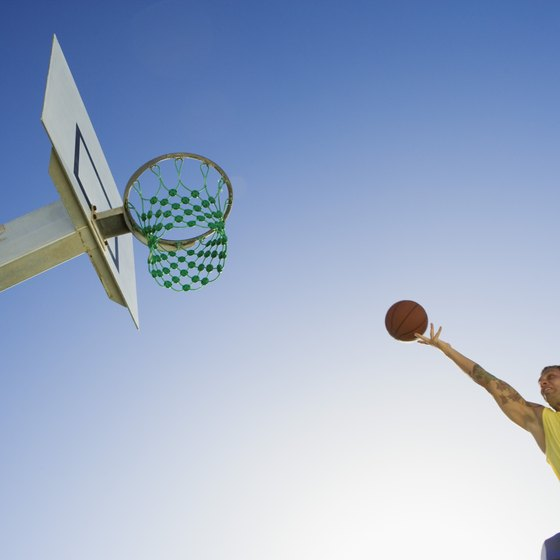 Vertical jumping ability is important in many sports, such as basketball.